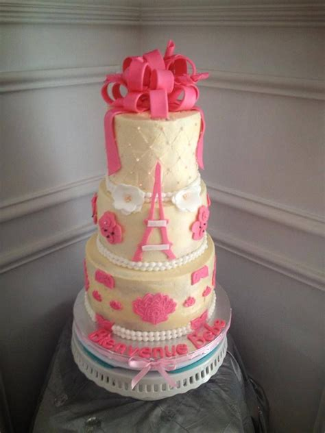 Eiffel Tower Baby Shower Cakes by 17 Best Images About Baby Shower On Baby Dedication Eiffel Towers And Pink Damask