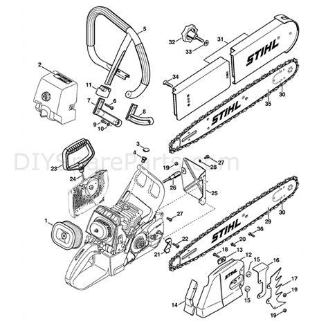 stihl chainsaw parts diagram stihl ms 460 chainsaw ms460 z magnum parts diagram