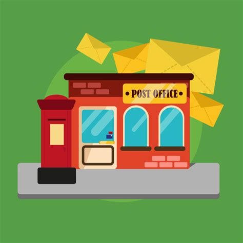 Can You Work For The Post Office With A Criminal Record Post Office Building Flat Background Material Background Flat Building