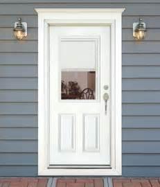 Exterior Door Blinds Feather River Door Fiberglass Entry Doors Mini Blinds Smooth White Door Flickr Photo