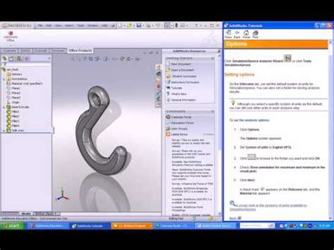 solidworks fea tutorial solidworks cswa tutorial 7 simulation fea youtube