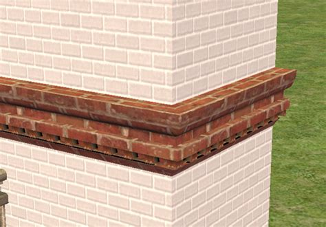 brick cornice mod the sims brick cornice and belt decorative pieces