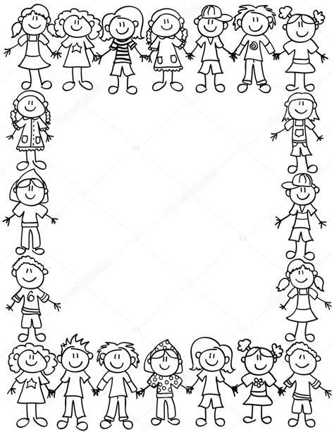 verb pattern bear kids friendship border outline stock vector 169 mirage3