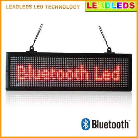 Led Display Indoor 20 7x 6 3 inches indoor led display bluetooth programmable scrolling message sign board for