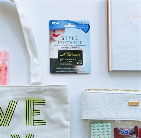 Style Everywhere Gift Card - back to school care package pretty fun