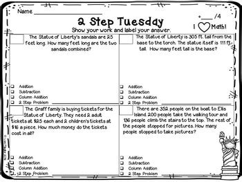 2 step word problems 2nd grade worksheets the best