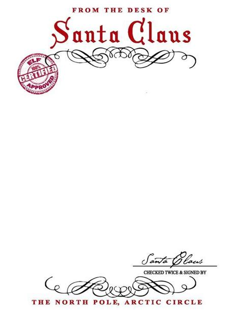printable elf letterhead santa claus letterhead will bring lots of joy to