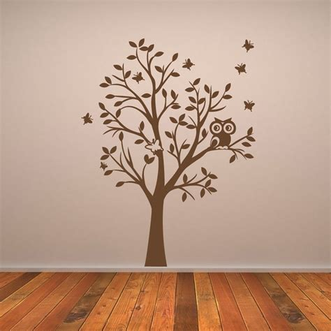 owl tree wall stickers owl tree wall sticker wall chimp uk