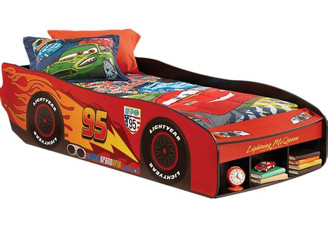 mcqueen car bed disney cars lightning mcqueen ii red 3 pc twin bed beds