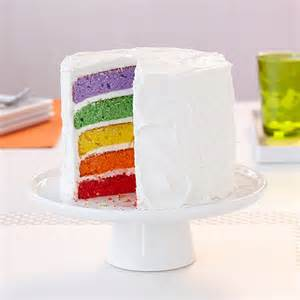 How To Use Decorating Tips And Bags Rainbow Reveal Easy Layers Cake Wilton