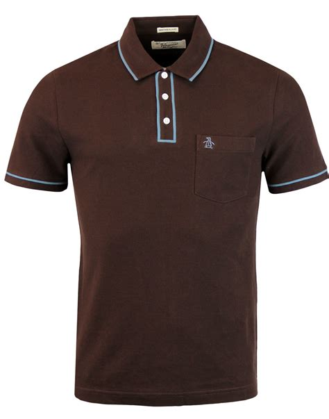 Polo Classic 9910 5 Coffee Original original penguin earl 60s retro mod tipped polo in coffee bean