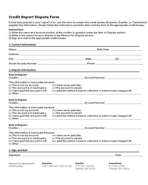 2018 Credit Report Form Fillable Printable Pdf Forms Handypdf Credit Report Template Pdf