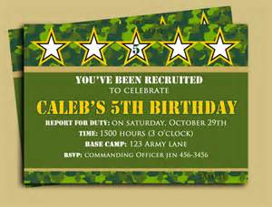 camouflage birthday invitation printable or printed with free