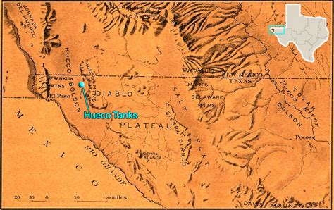 texas mountain ranges map hueco tanks