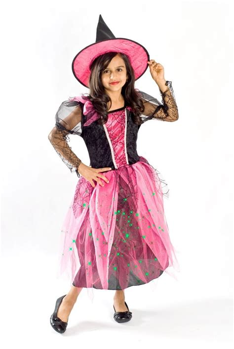 8 Costumes For by Witch Costume Black Light Up Pink Glowing Size 4 5 6