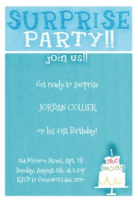 fearsome free printable surprise birthday party