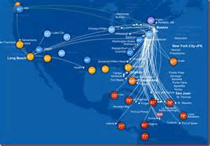 Jet Blue Route Map by Jetblue S New Route Map More Than Just Destinations