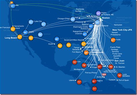 jetblue route map jetblue s new route map more than just destinations wandering aramean