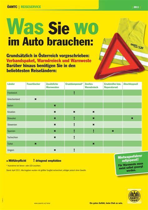 gr ne versicherungskarte tschechien was geh 246 rt ins auto die vorschriften in europa autoguru at