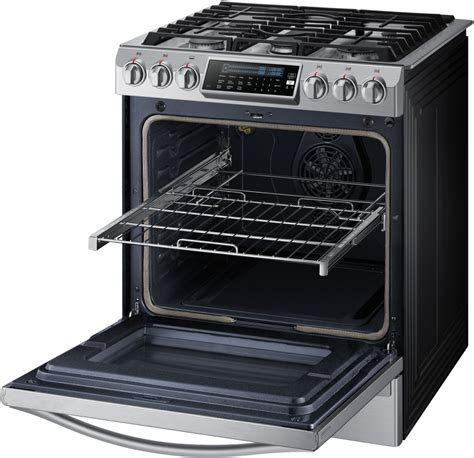 Samsung Oven Racks by Samsung Nx58h9950ws 30 Inch Slide In Gas Range With 5