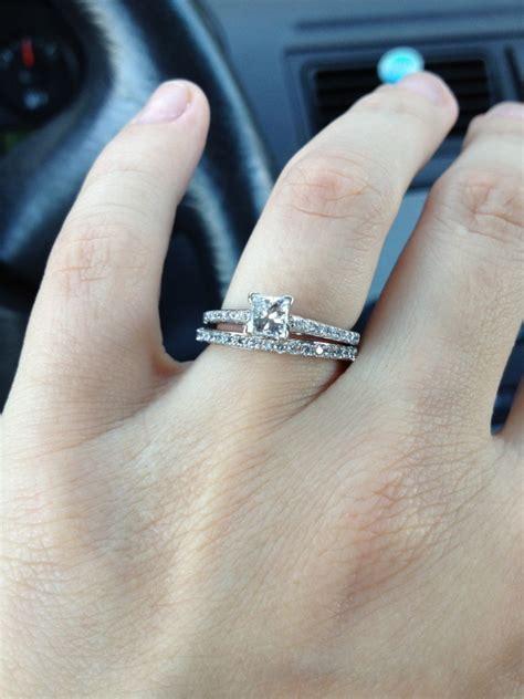 wedding rings for on finger
