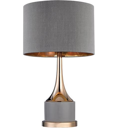 dimond cone grey amp gold 18 5 inch table lamp lamps com
