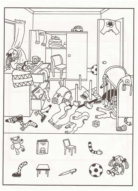 bedroom drawing for kids esl worksheet english village