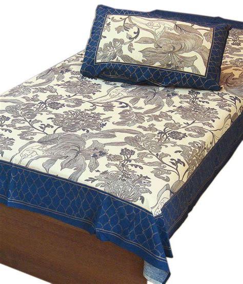 gold bed sheets jaipur raga designer gold print cotton single bed sheet