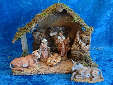 fontanini canada 5 quot fontanini nativity set 5 pc with 10 quot wooden stable 54484 1 left in stock