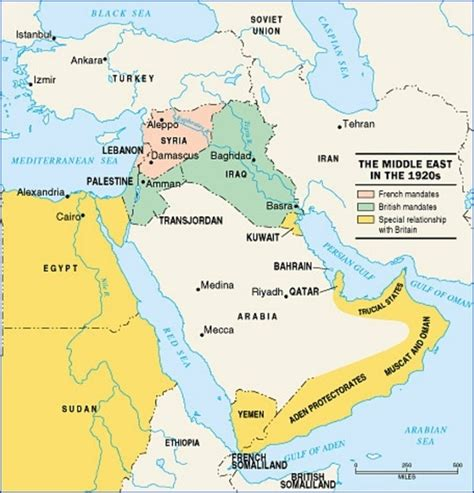 middle east map after mandates quora