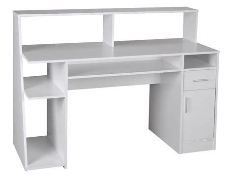 wohnling multifunction computer desk table white 100cm