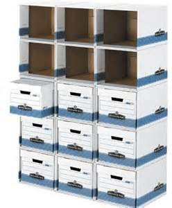 cardboard shelving unit this is not your grandfather s bankers box best results