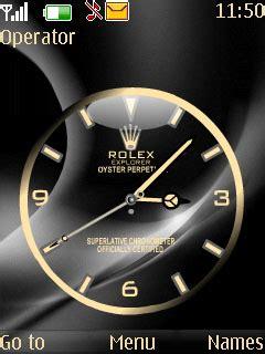 themes swf clock download swf rolex clock nokia theme mobile toones