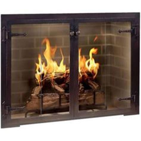 indoor fireplace door hammered edge fireplace door