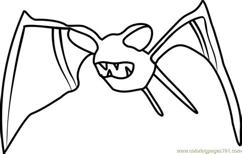 pokemon zubat coloring pages zubat pokemon go coloring page free pok 233 mon go coloring