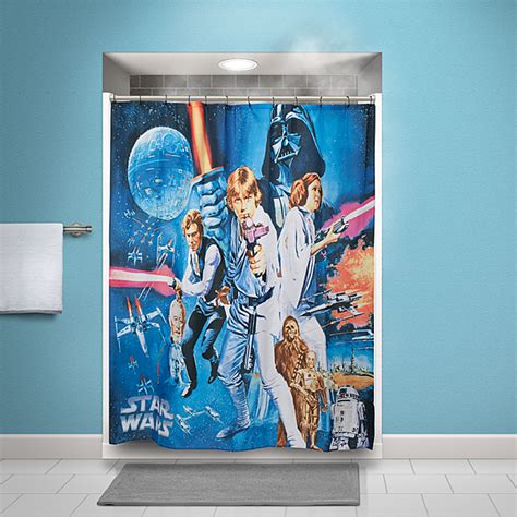 movie shower curtains star wars movie posters shower curtains