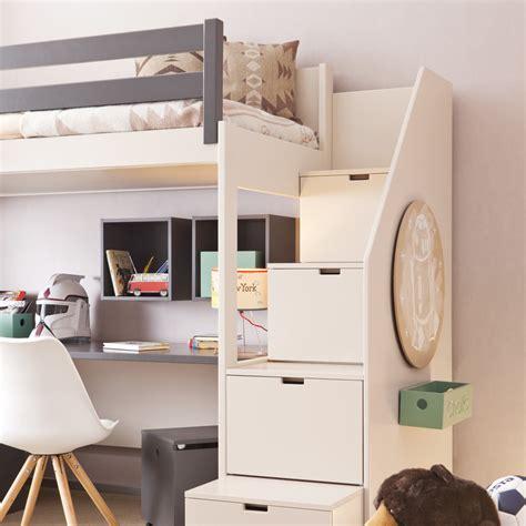 Hochbett Treppe Schubladen by Asoral Hochbett Loft Xl Liso Mit Treppe Schreibtisch 4