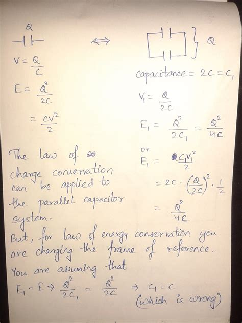 capacitor charging paradox can anyone help with a problem on a simple two capacitor paradox
