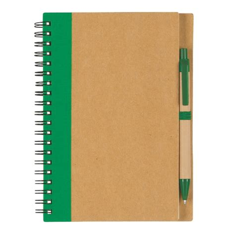 6100 Eco Inspired Spiral Notebook Pen - custom eco spiral notebook and pen usimprints