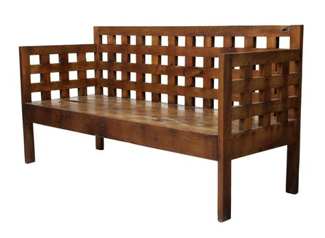 lattice bench large teakwood lattice bench fine antiques estates
