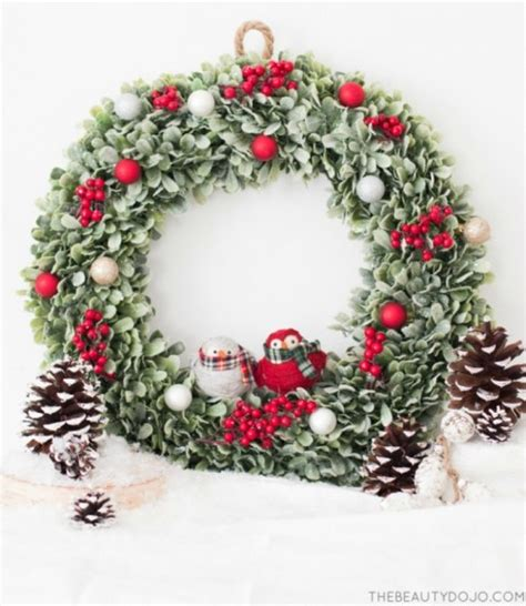 diy wreaths with ornaments diy wreath with and small ornaments
