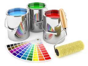 Decorators Brushes Roller Brush And Palette Of Colors Hd Free Foto