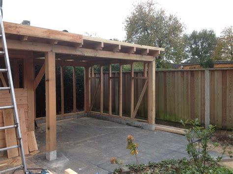 houtskelet tuinhuis bouwen foto s tuinhuizen timmerbedrijf mark koebrugge