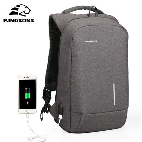 Mairu 0219 Smart Backpack Usb Port Charger Free Powerbank Grey modernist king premium waterproof backpack with usb charging port modernist look