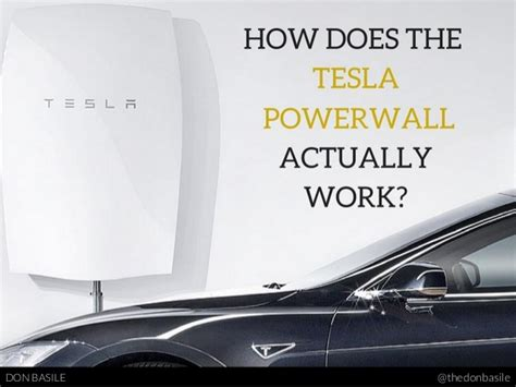 tesla how it works how does the tesla powerwall actually work
