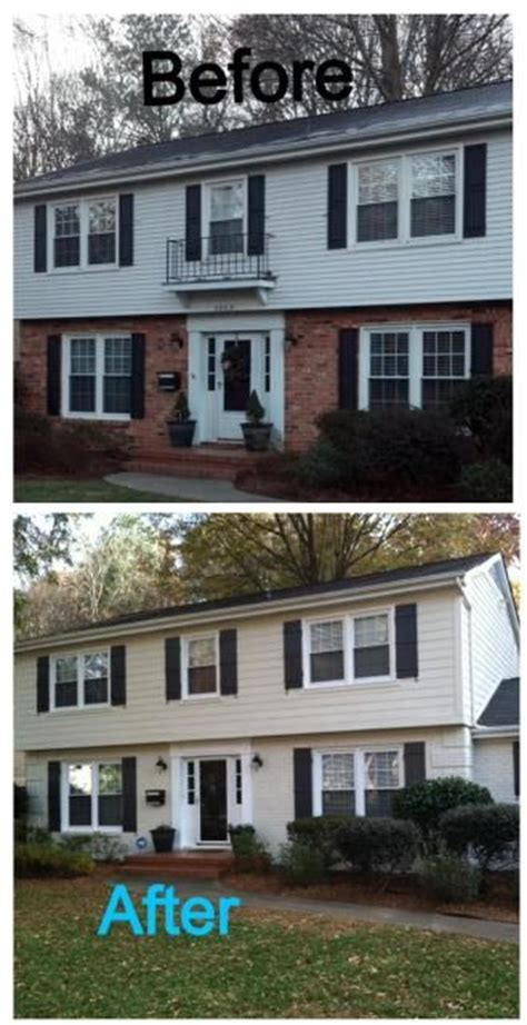 brick house renovation before and after painted brick before and after home decorating pinterest colors the black and