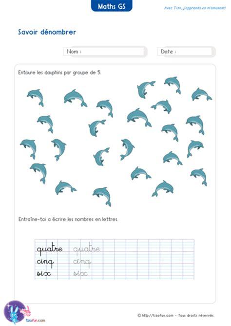 Exercices Maths Gs Maternelle Grande Section Jeux Fiches Pdf