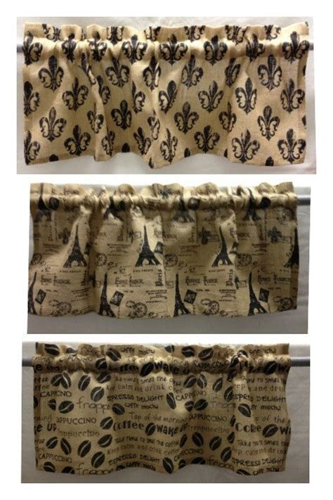 Fleur De Lis Kitchen Curtains Burlap Valance And Kitchens And Bathrooms On