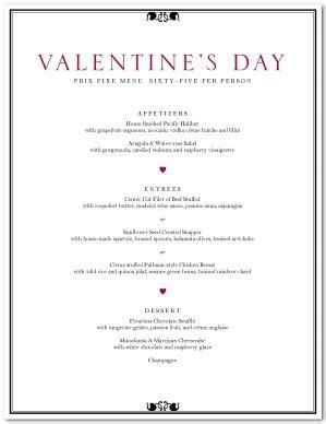 Valentine S Day Dinner Menu Template Valentine S Day Menus S Day Menu Template