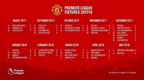epl fixtures ist all manchester united s 2017 2018 premier league fixtures